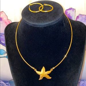 Sarah Coventry Starfish Necklace
